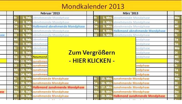 mondkalender 2013